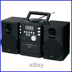 NEW Jensen FM Radio CD/Cassette Player Portable Shelf System Stereo