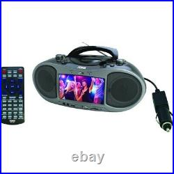 NEW NAXA NDL256 7in Bluetooth DVD Player 7-in Radio/DVD Boombox