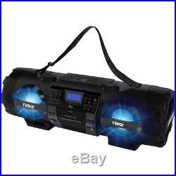 NEW NAXA NPB-262 MP3/CD Bass Reflex Boombox & PA System with Bluetooth Radio/CD