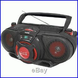 NEW NAXA NPB259 Portable Cd/mp3 & Cassette Player & Am/fm Radio With Subwoofer