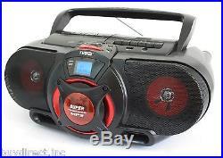 NEW NAXA PORTABLE MP3 CD FM RADIO CASSETTE PLAYER/RECORDER SUBWOOFER USB BOOMBOX