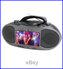 NEW Naxa NDL-256 NDL256 7 Bluetooth DVD Boombox 1 x Disc 5 W Integrated Black