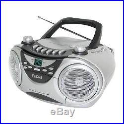 NEW Naxa NPB-241 Portable CD Player, AM/FM Stereo Radio & Cassette Playe