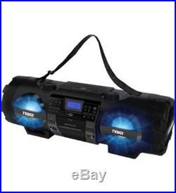 NEW Naxa NPB-262 MP3/CD Bass Reflex Boombox PA System with Bluetooth 1 x Disc
