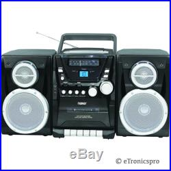 NEW PORTABLE CD PLAYER AM/FM STEREO CASSETTE PLAYER/RECORDER DETACHABLE SPEAKERS