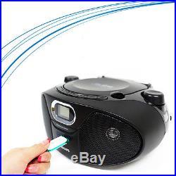 NEW Philips Portable CD Audio Speaker System USB Direct MP3 Radio Player AZ-385
