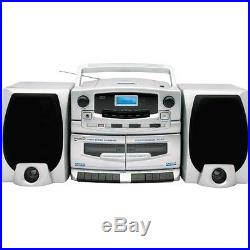 NEW Portable MP3/CD Player With Cassette Recorder, AM/FM Radio & USB Input Micro