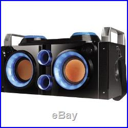 NEW QFX PBX-505200BTBLU Party PA System/Boom Box Speaker System Bttry Pwrd BT
