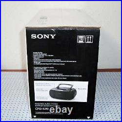 NEW SONY CFD-S70 PORTABLE CDs, CD- R/RW, MP3 CD PLAYER, CASSETTE BOOMBOX BLACK