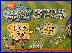 NEW! Spongebob Squarepants YOU READY TO ROCK Radio CD Player SB251 2003