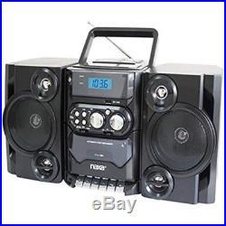 Naxa Boomboxes NPB-428 Portable AM/FM Radio MP3/CD Player & Cassette Recorder