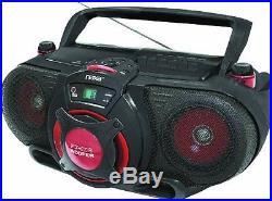 Naxa NPB-259 Portable MP3/CD AM/FM Stereo Radio Cassette Player/Recorder with Su