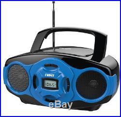 Naxa NPB-264 Portable Mini MP3/CD Boombox with AM/FM Radio and USB Player Blue