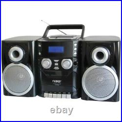Naxa NPB426 Portable CD Player with AM/FM Radio, Cassette & Detachable Sp