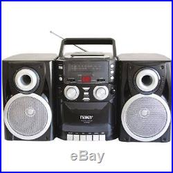 Naxa NPB426 Portable CD Player with AM/FM Radio, Cassette and Detachable
