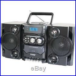Naxa NPB428 Portable CD/MP3 Player AM/FM Detachable Speakers Remote & USB Input