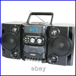 Naxa NPB428 Portable MP3/CD Player with AM/FM Radio & Detachable Speakers