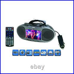 Naxa Ndl-256 Bluetooth Dvd Boombox Built-In 7 Lcd Screen