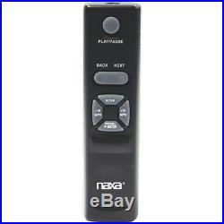 Naxa Portable CD/MP3 Player with AM/FM Radio, Detachable Speakers, Remote & USB