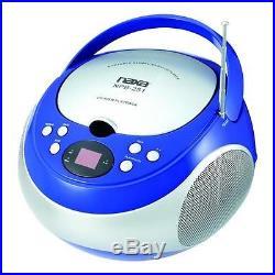 Naxa Portable CD Player with AM/FM Stereo Radio, Blue #NPB-251BL