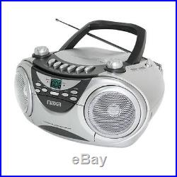 Naxa Portable CD Player with AM/FM Stereo Radio Cassette Player/Recorder