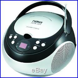Naxa Portable CD Player with AM/FM Stereo Radio NPB-251BLK