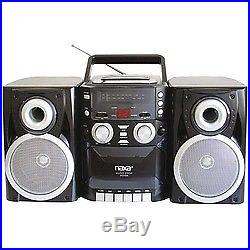 Naxa Portable Cd Player With Am And Fm Radio, Cassette & Detachable Speakers
