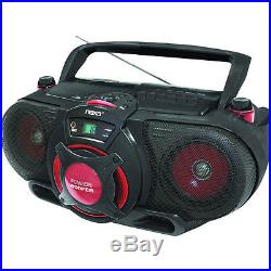 Naxa Portable MP3/CD AM/FM Stereo Radio Cassette Player/Recorder with Subwoofer