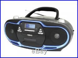 Naxa Portable MP3/CD Player, AM/FM Stereo Radio & USB Input- Blue