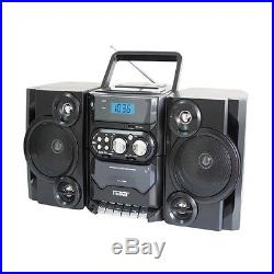 Naxa Portable MP3/CD Player With AM/FM Stereo Radio Cassette Player/Recorder