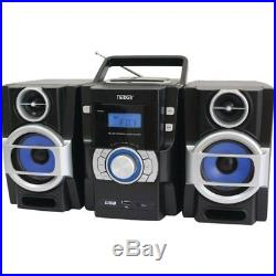 Naxa(R) NPB429 Portable CD/MP3 Player with PLL FM Radio, Detachable Speakers & R