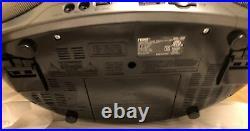 New Naxa DVD MP3 CD Player Stereo Boombox AMFM Radio USB/SD AUX Remote Portable