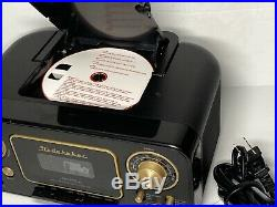 New Portable Retro Classic CD Player AM/FM Radio Cassette Player Recorder AUX-IN