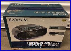 New Sony CFD-S01 CD Player Radio Cassette Recorder Boombox Portable Stereo