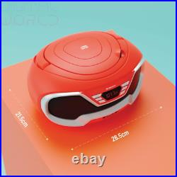 Oakcastle CD200 Portable CD Player Boombox with Bluetooth & FM Radio, Red