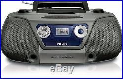 PHILIPS CD Sound Machine AZ1852 CD player boom box, MP3, Cassette FM radio