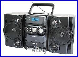PORTABLE CD/MP3 PLAYER AC/DC AM/FM RADIO CASSETTE RECORDER REMOTE withDUAL VOLTAGE