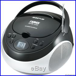 PORTABLE MP3 CD PLAYER AM / FM RADIO AC/DC AUX-INPUT for MP3 PLAYER iPOD iPHONE