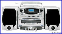 PORTABLE MP3 CD PLAYER DOUBLE CASSETTE DECK RECORDER USB SUPERSONIC SC-2020U NEW