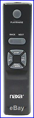 PORTABLE NAXA MP3 CD PLAYER with AM/FM STEREO RADIO CASSETTE RECORDER USB INPUT