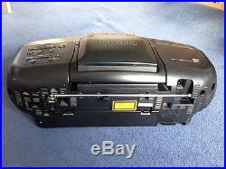 Panasonic Boombox Portable CD/Cassette Player Ghettoblaster RX-DS25