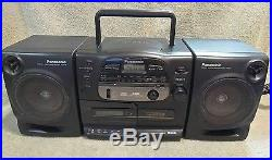 Panasonic Boombox RX-DS545 Portable Stereo AM/FM Radio CD Cassette Tape Player