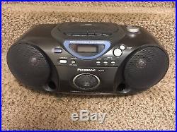Panasonic CD Cassette Radio Player Boombox Portable RX-D19 Black