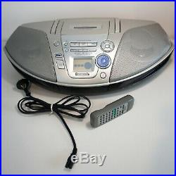 Panasonic Portable CD Cassette Player Radio RX-ES22 Stereo Boombox with Remote