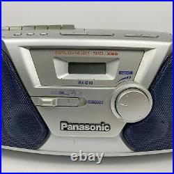Panasonic RX-D10 Boombox Portable Radio Tape Cassette CD Player