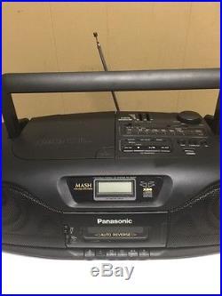 Panasonic RX-DS202 Cassette Cd Player Portable Stereo Vtg Boombox Ghetto Blaster