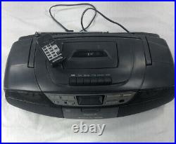 Panasonic RX-DS27 Power Blaster Boom Box Portable CD Cassette Player With Remo