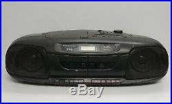 Panasonic RX-DT401 Portable Stereo Boombox CD Player AM/FM Radio Double Cassette