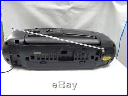 Panasonic RX-DT401 Retro Portable Boombox XBS MASH Double Tape Radio CD Player
