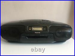 Panasonic RX-DT401 Retro Portable Boombox XBS MASH Tape Radio CD Player Tested